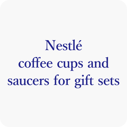 Nestlé coffee cups and saucers for gift sets