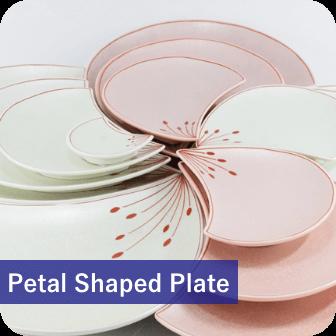 petal-shaped plate