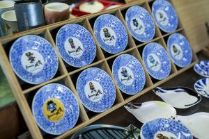 Romancing佐賀 有田焼丸型小皿10枚セット